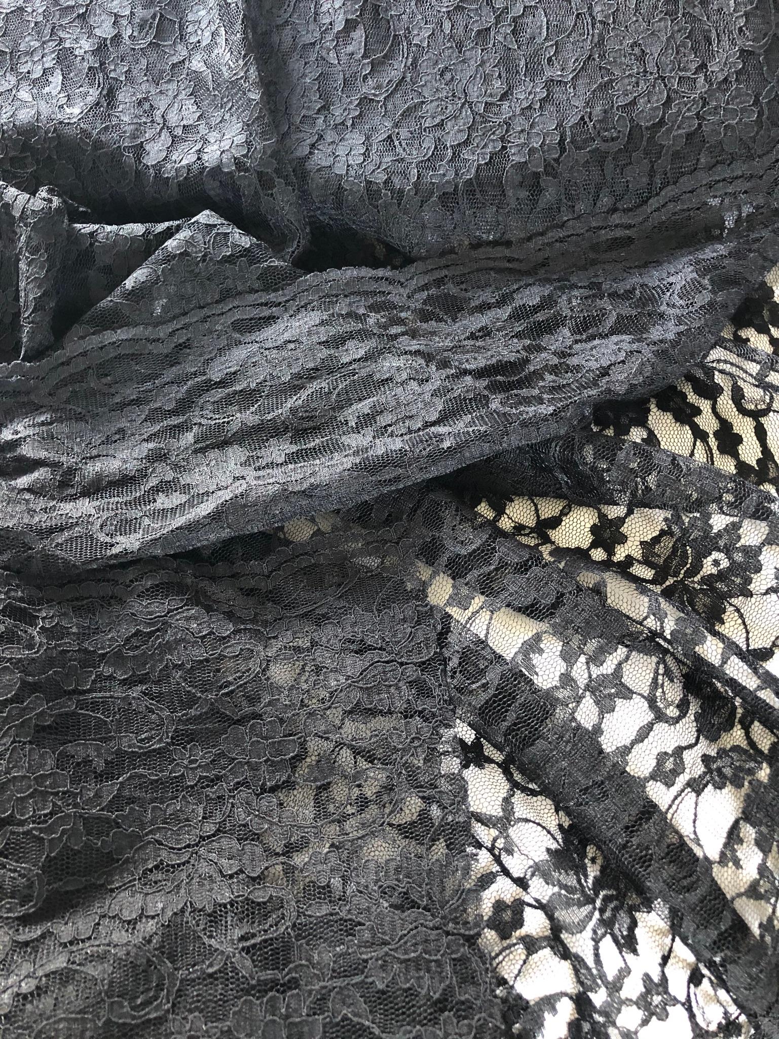Black Lace 1 metre remnant