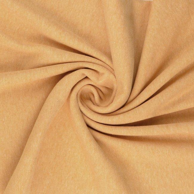 Melange yellow/pink organic cotton jersey 1.60 metre remnant