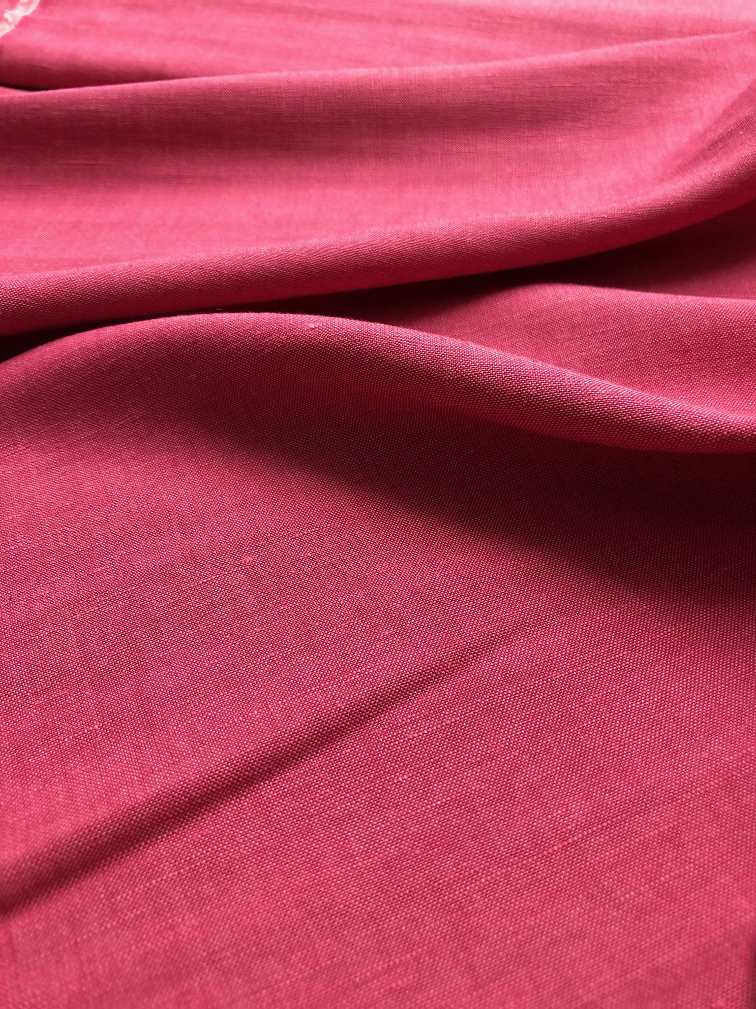 Rose Pink Linen/Viscose Mix
