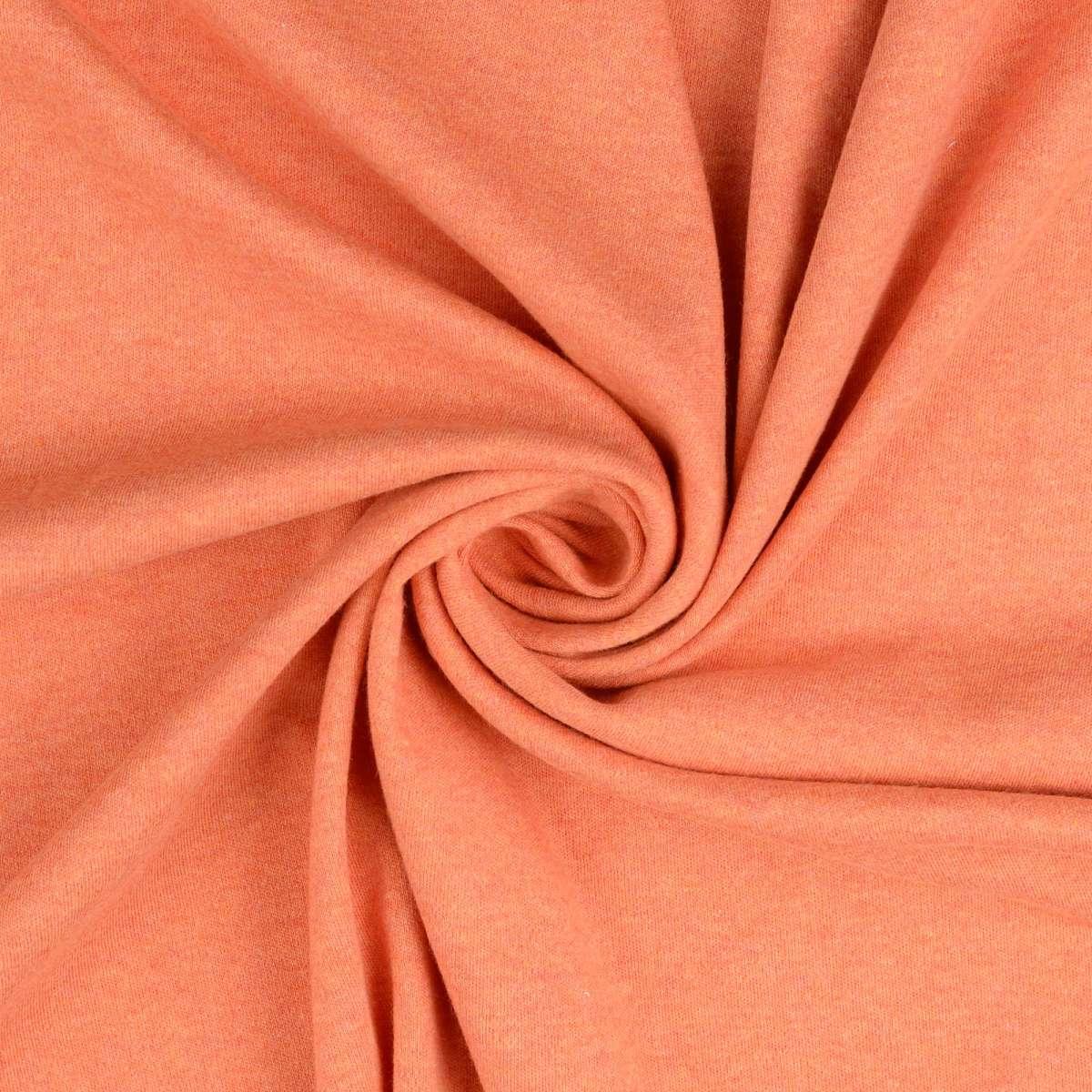 Melange orange/pink brushed cotton jersey