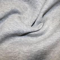 Light grey Melange Jersey Sweatshirting 1.90 metre remnant