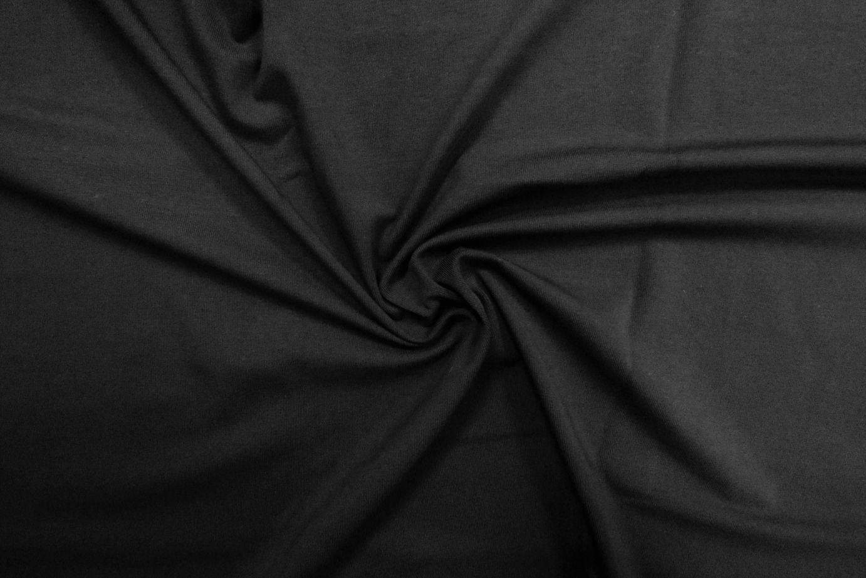 Black organic cotton jersey