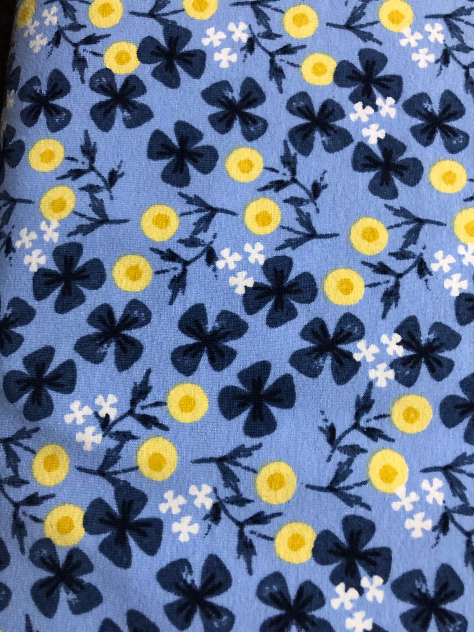 Cotton Jersey Blue Buttercup