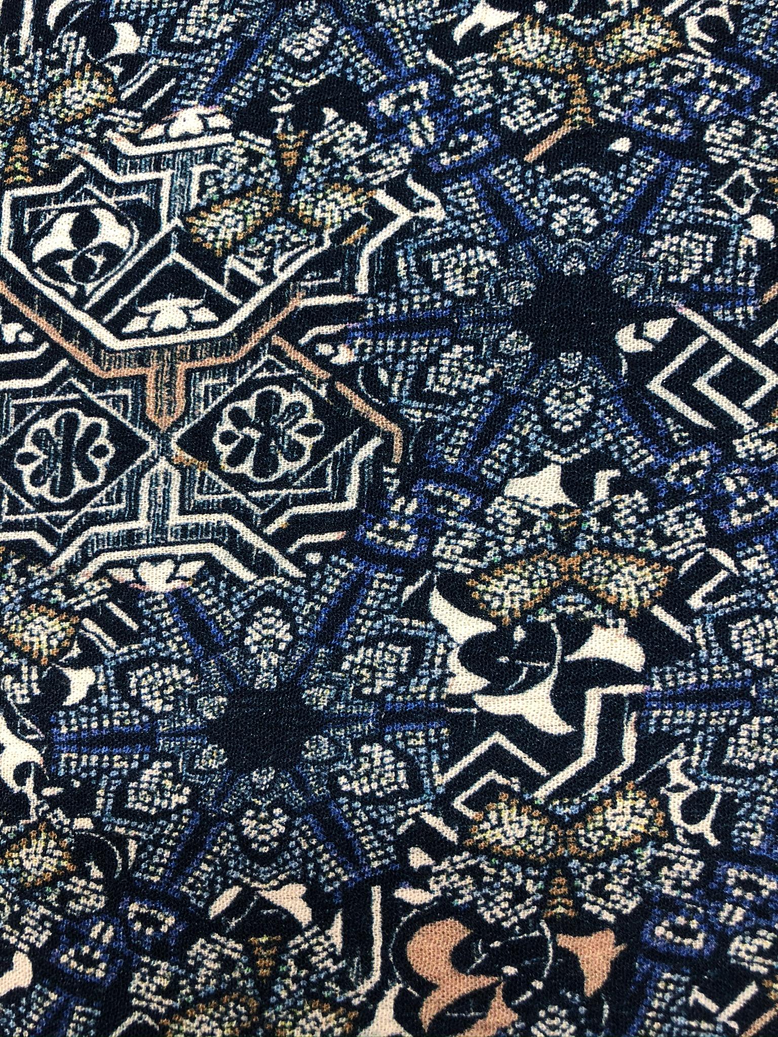 Moroccan Tile blue
