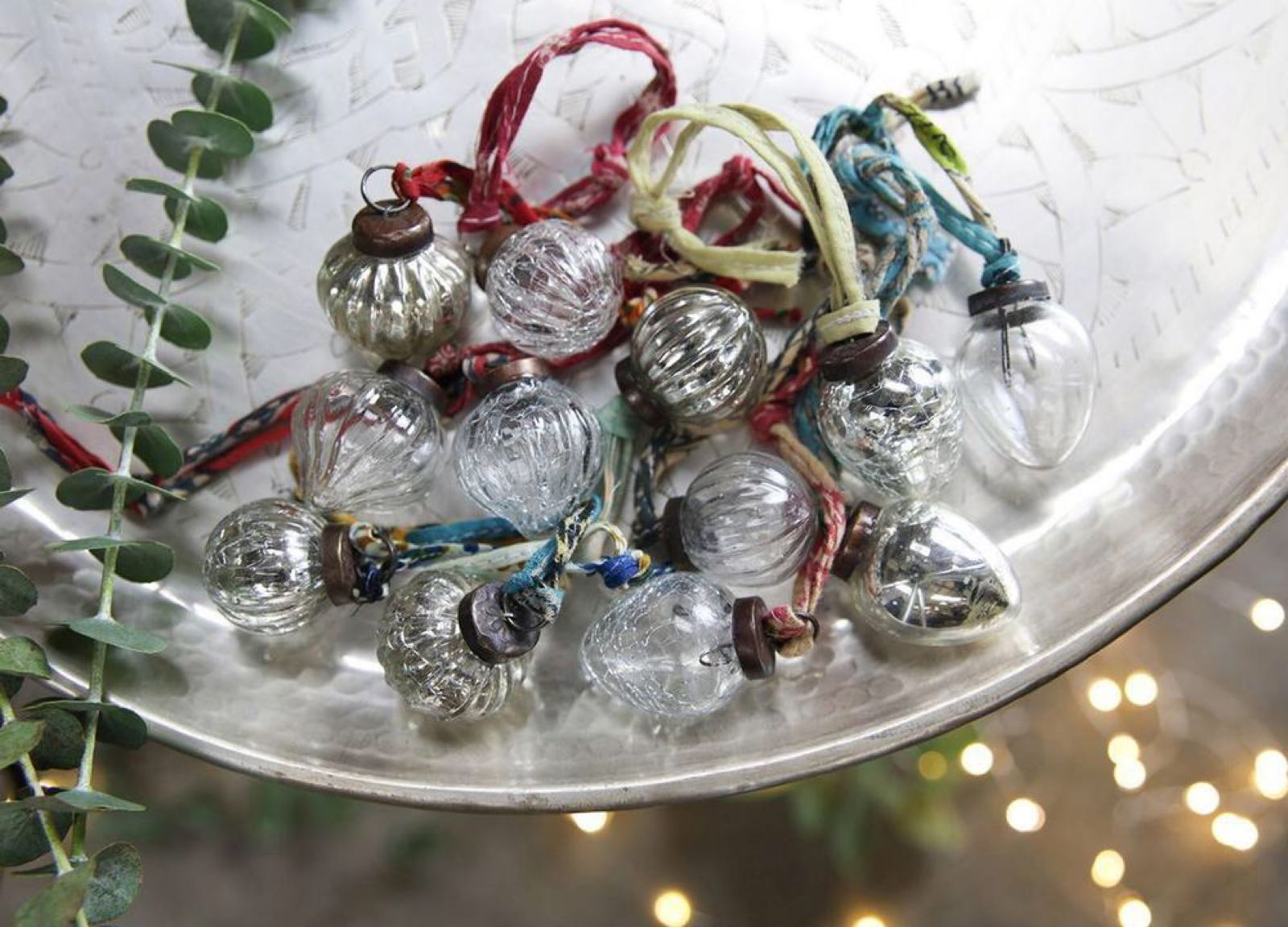 Dew Drop Glass Baubles small