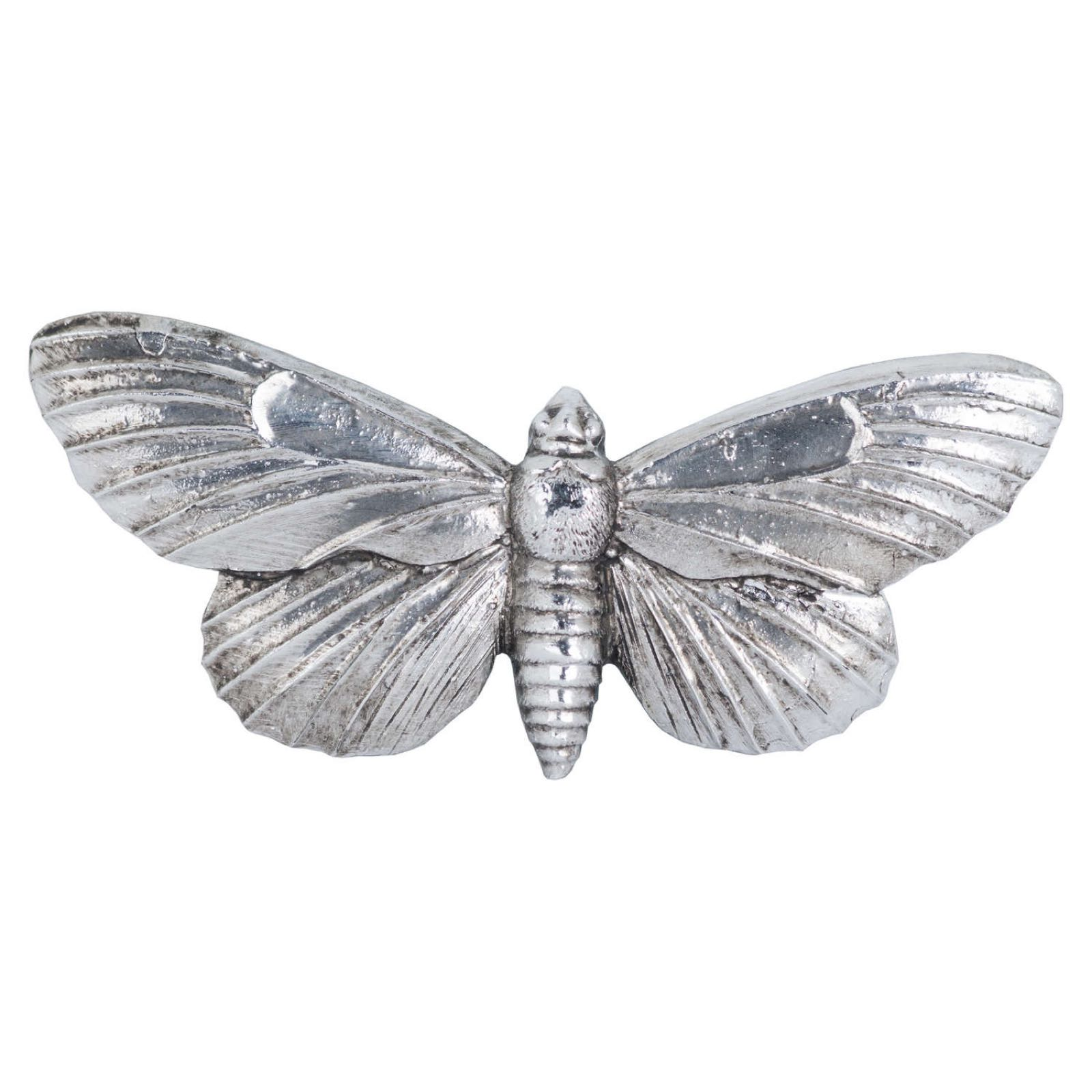 Antique Silver Butterfly Clip