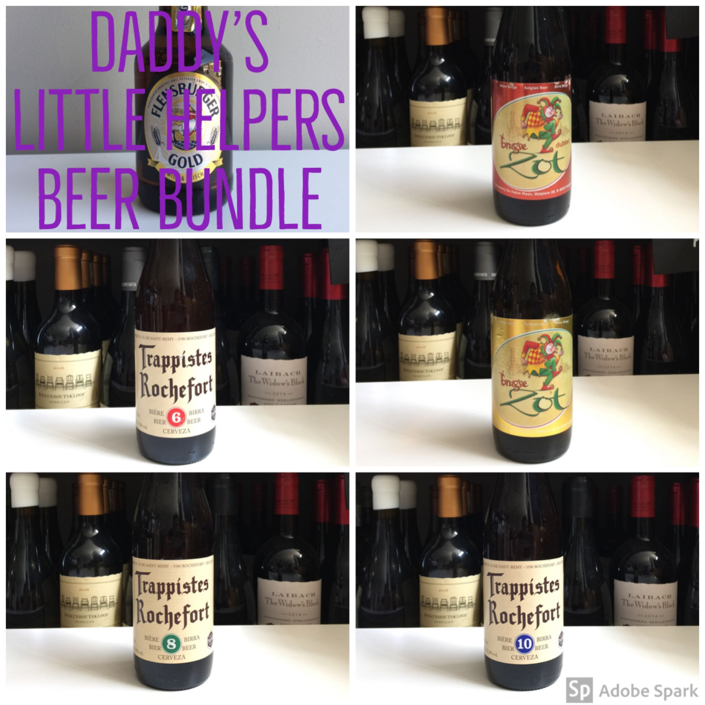 Daddy's little helpers - selection of 6 Belgium beers 330ml bottles