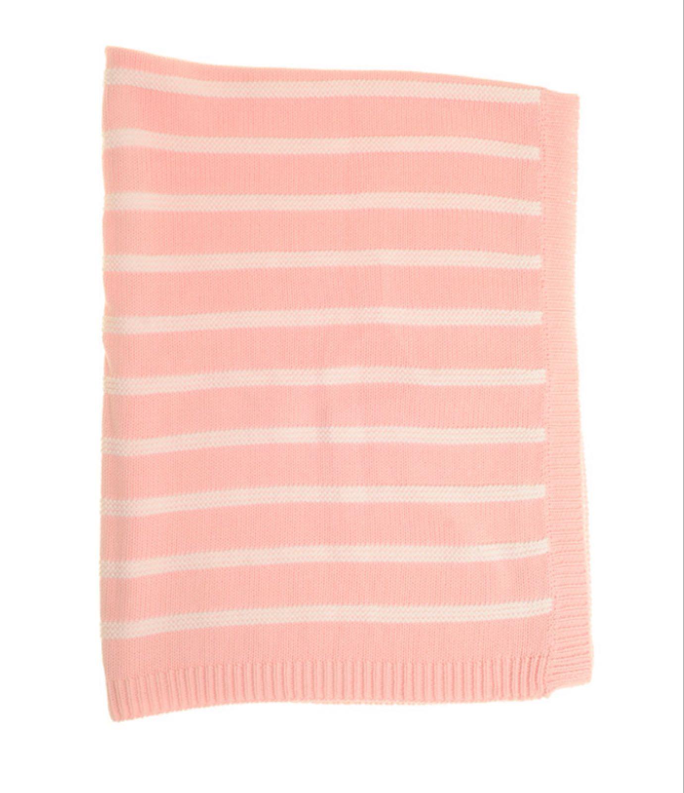 Ziggle Pink & White  Stripes Blanket