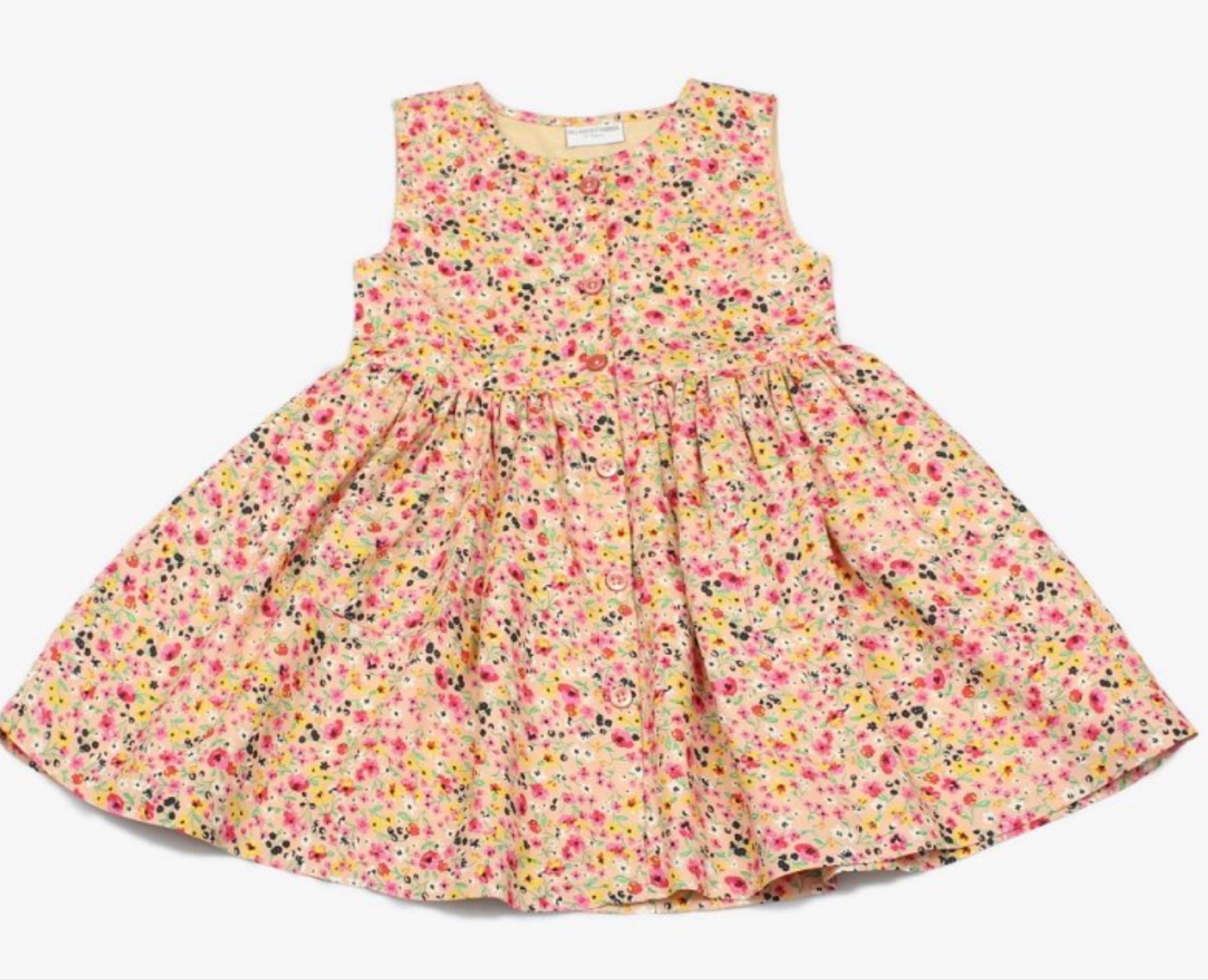 Girls all over print cotton lined dress