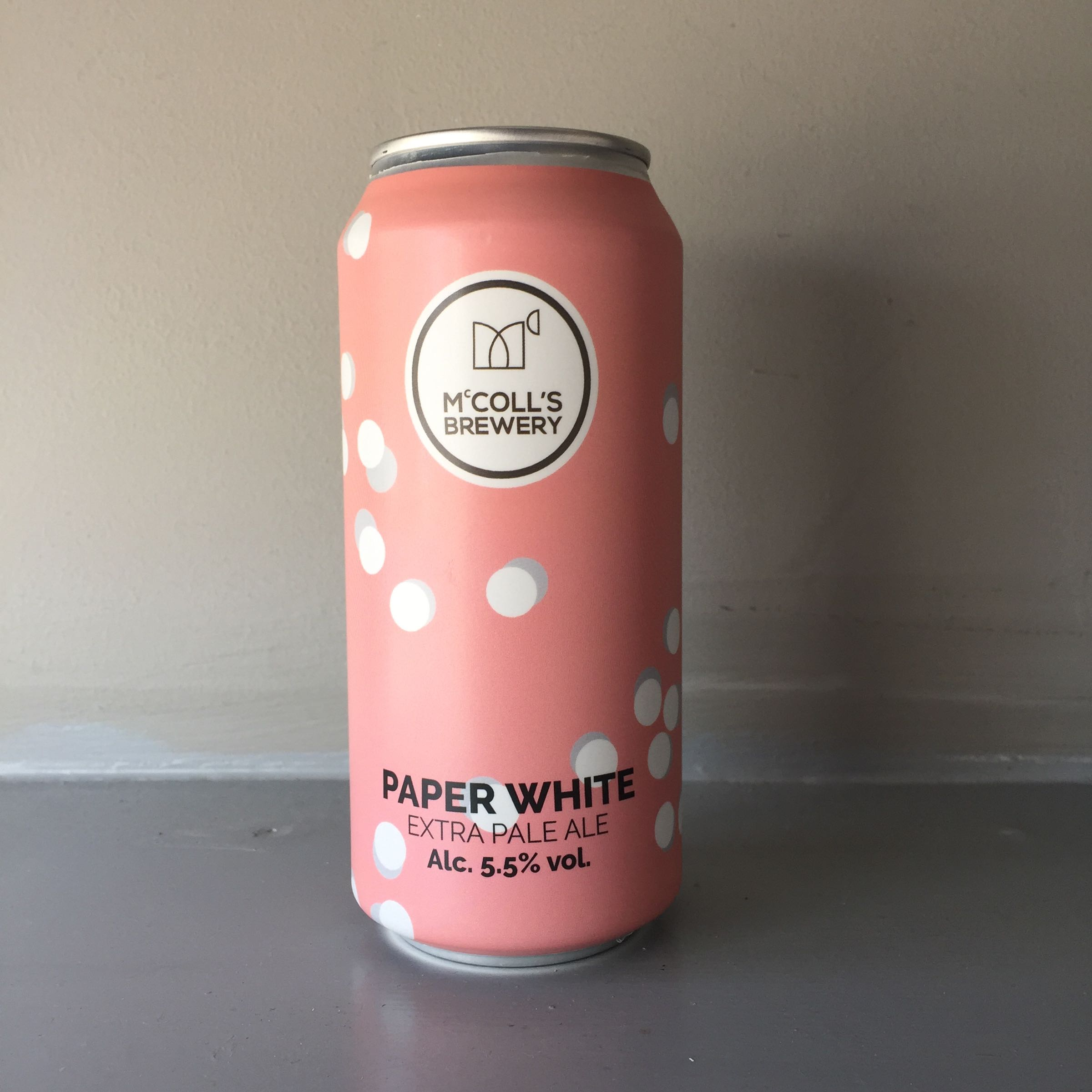 McColls Brewery 'Paper White' Extra Pale Ale 440ml 5.5% ABV