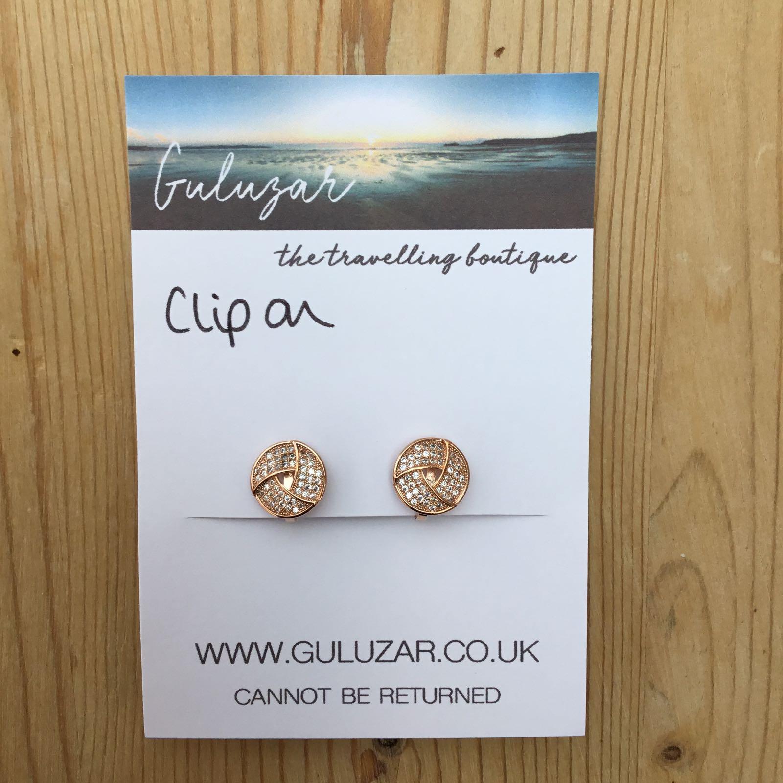 Clip On Knot Earrings - Rose Gold