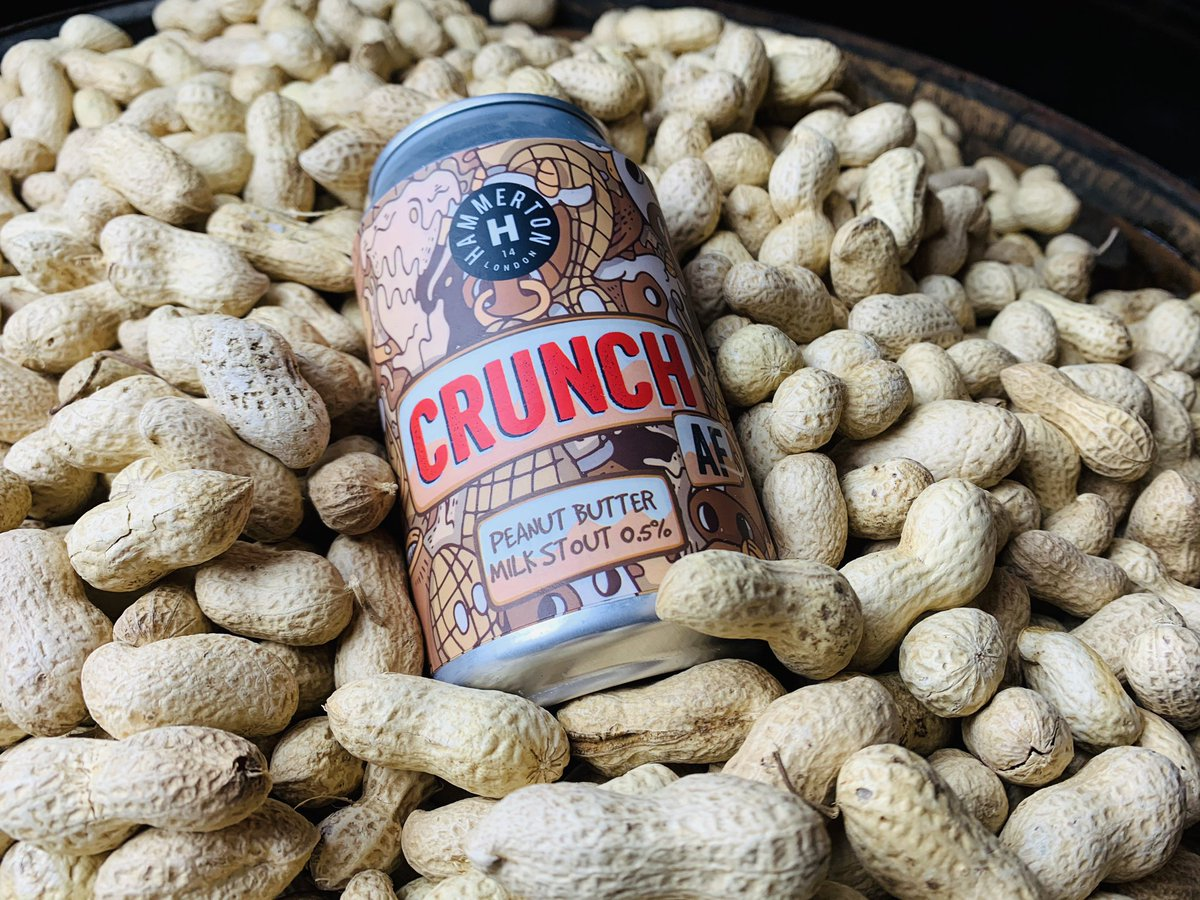 Hammerton | Alcohol Free Crunch | Non Alcoholic Peanut Milk Stout 0.5% 330ml