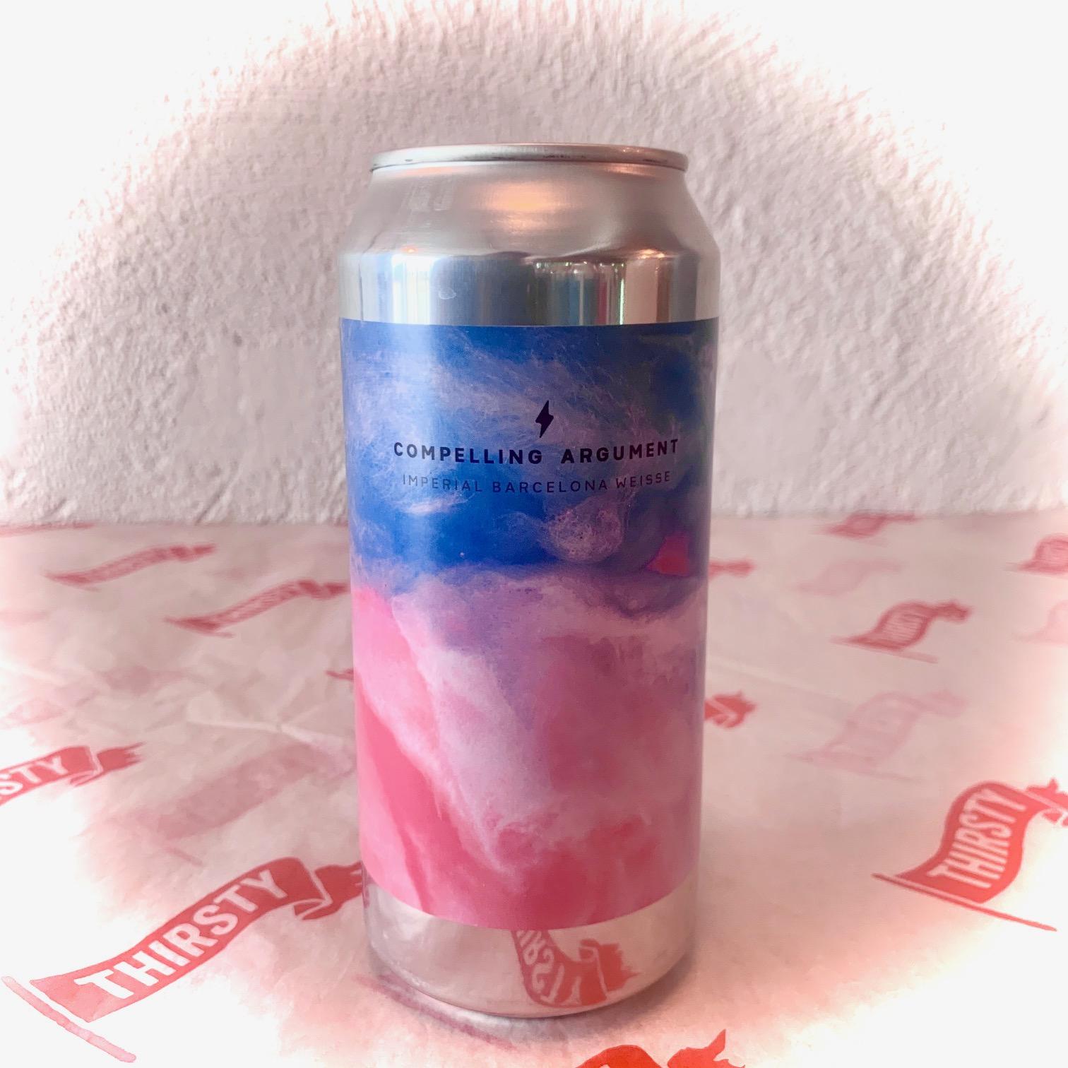 Garage Beer Co | Compelling Argument | Raspberry, Peach, Vanilla Berliner Weisse 7.5%  440ml