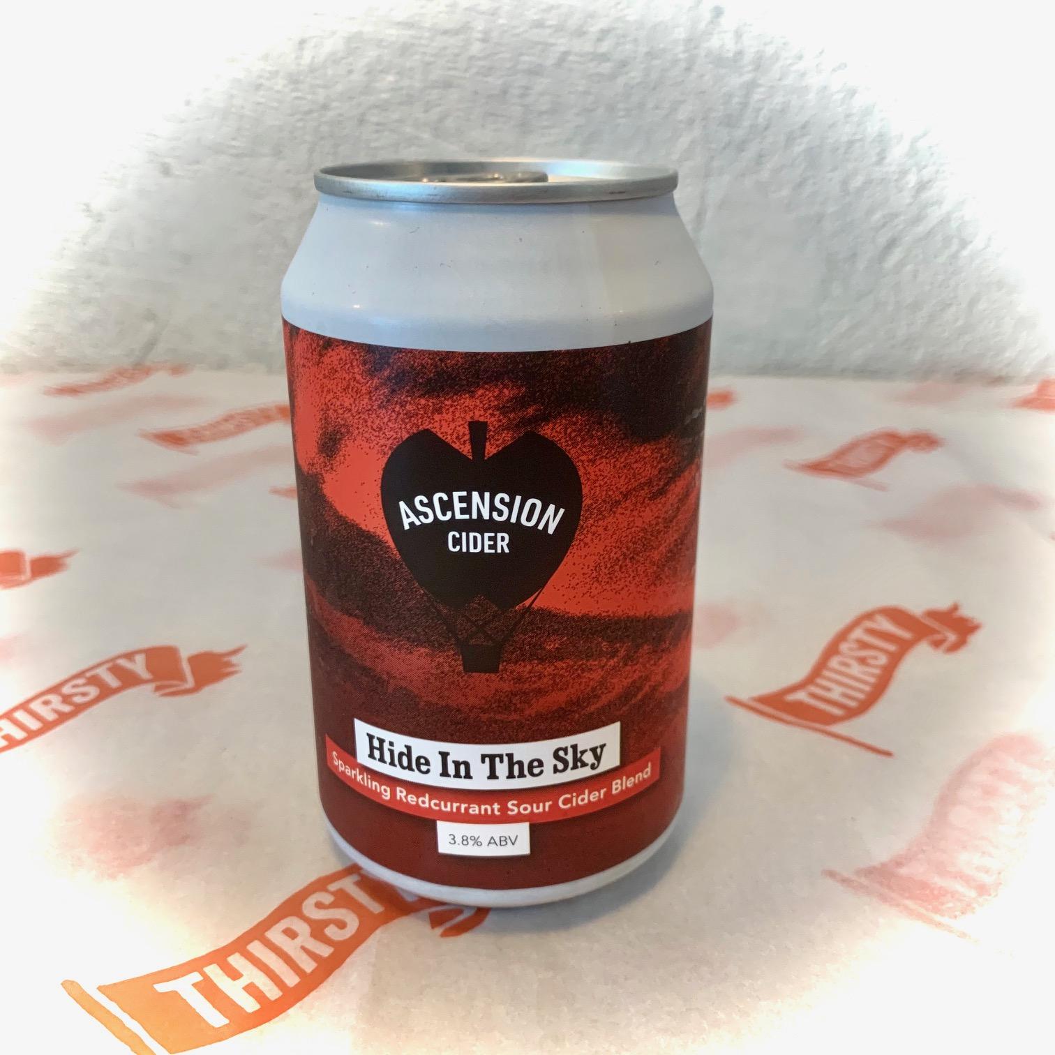 Ascension | Hide In The Sky | Sparkling Red Currant Sour Cider Blend 3.8% 330ml