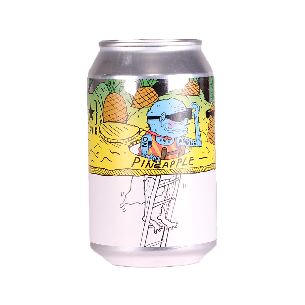 Lervig | No Worries Pineapple | Alcohol Free IPA 0.5% 330ml