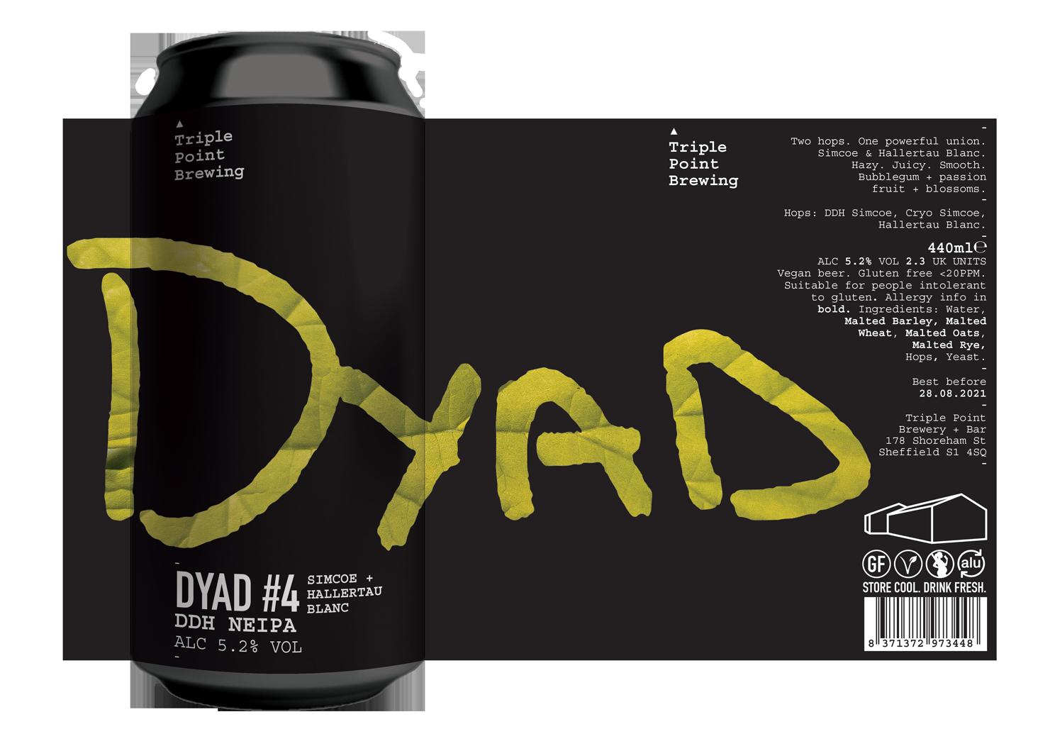 Triple Point Brewing | DYAD #4 | DDH  NEIPA 5.2% 440ml