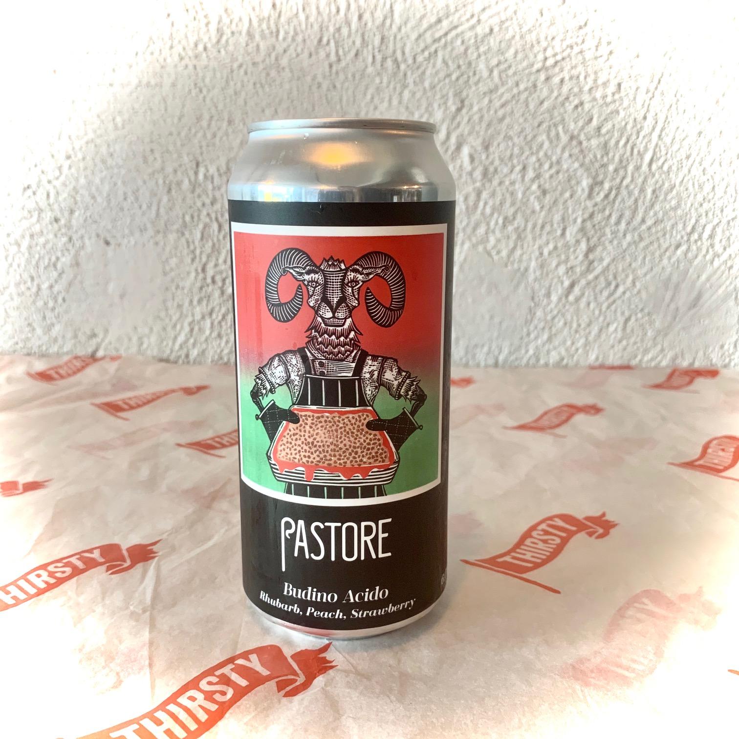 Pastore | Budino Acido | Rhubarb, Strawberry, Peach, Vanilla & Almond Waterbeach Weisse 6% 440ml
