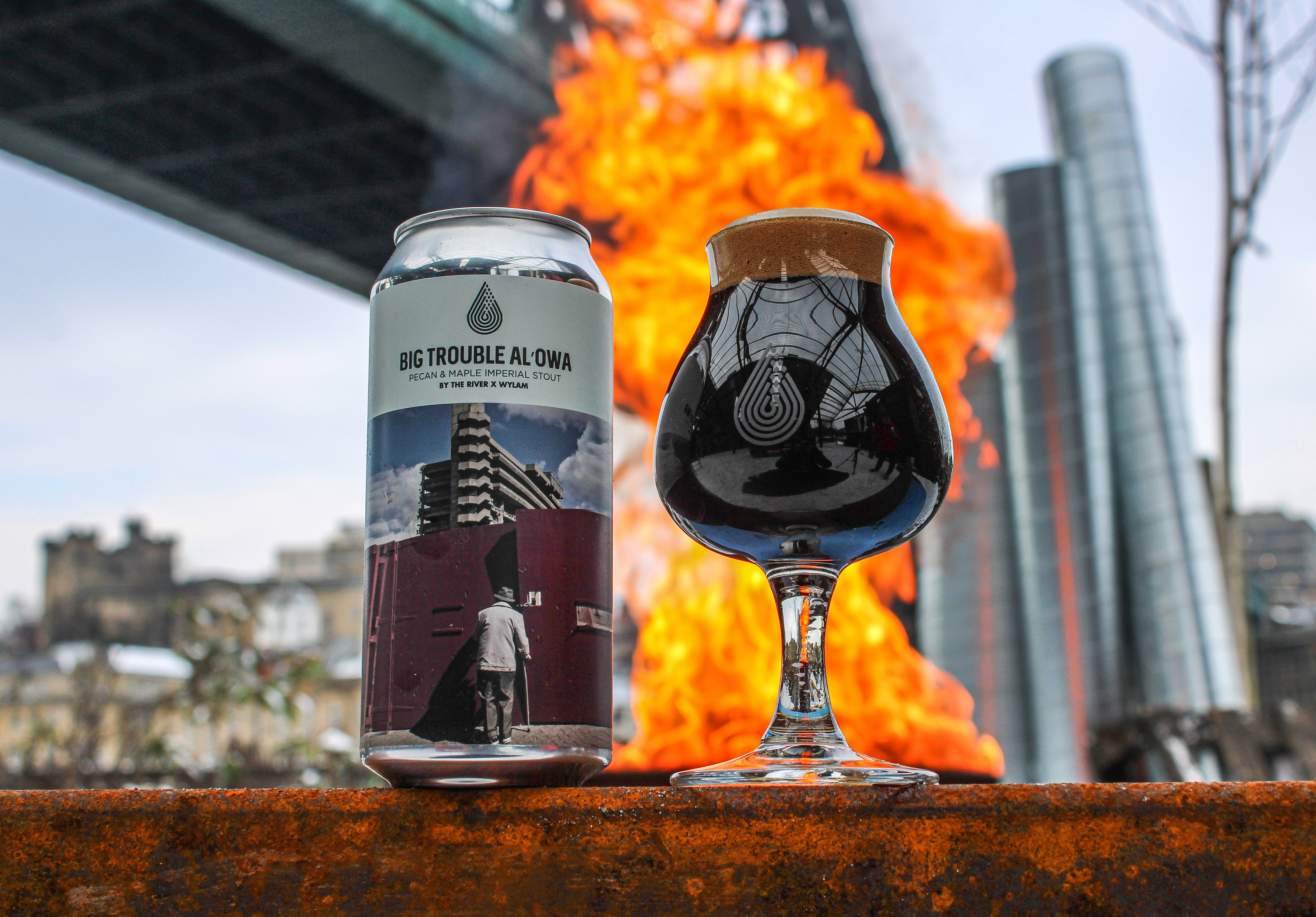 By The River Brew Co. x Wylam | Big Trouble Al'Owa | Imperial Peacan & Maple Stout 14% 440ml