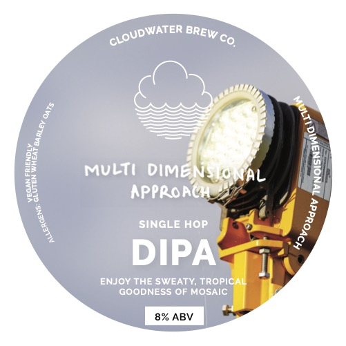 ON TAP Cloudwater | Multi Dimensional Approach | Mosaic DIPA 8% x1 Litre