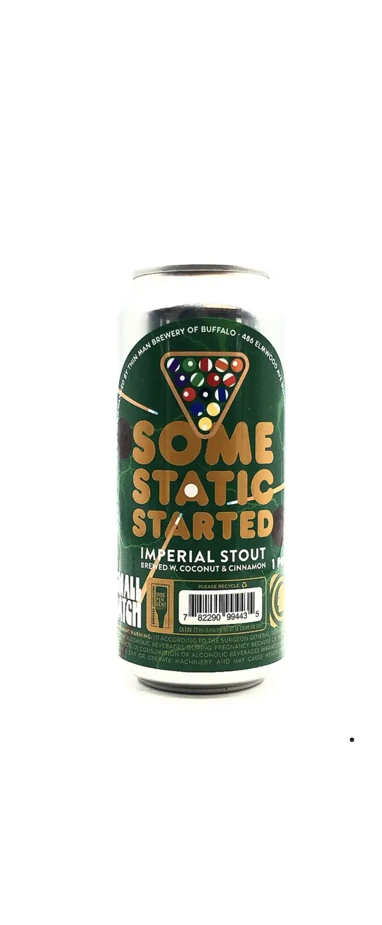 Thin Man Brewery | Some Static Started | Coconut & Cinamon Imperial Stout 8.2% 473ml