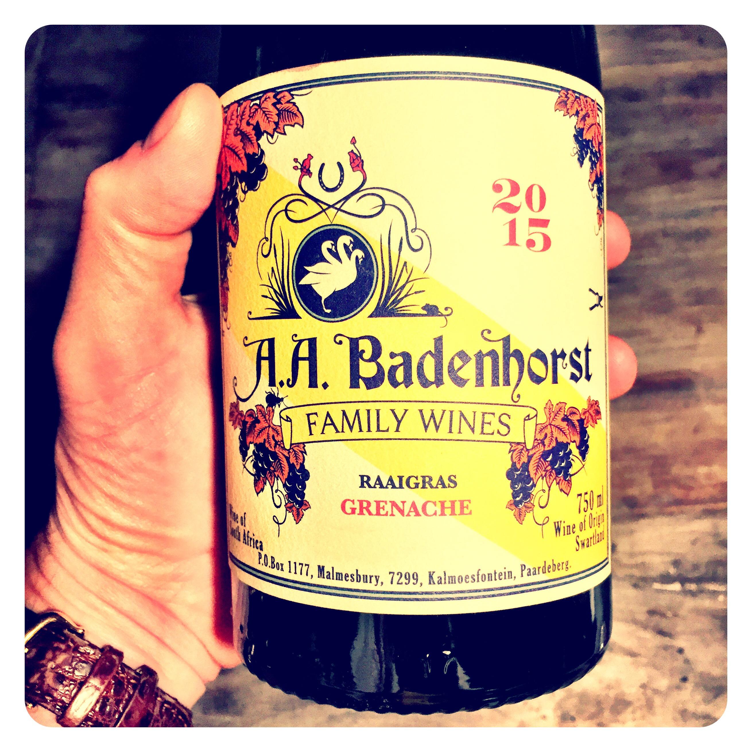 A A Badenhorst Raaigras Grenache