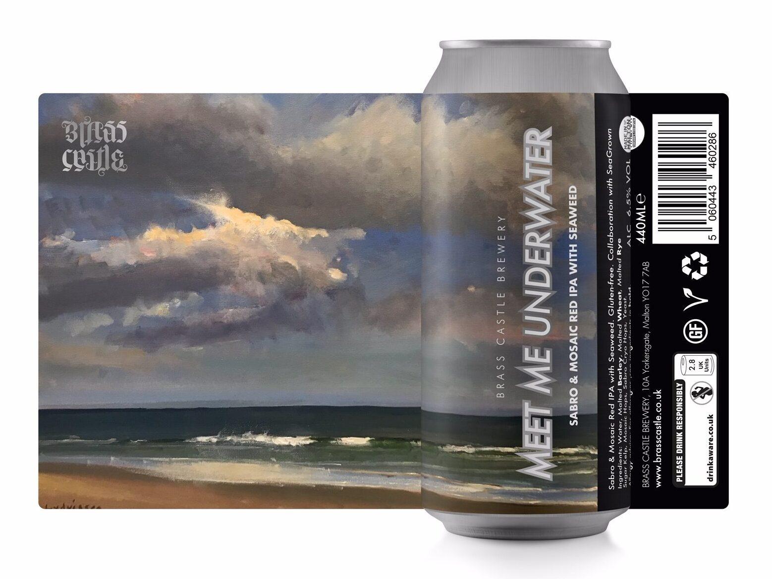 Brass Castle | Meet Me Underwater | Gluten Free Red IPA with Seaweed 6.5% 440ml