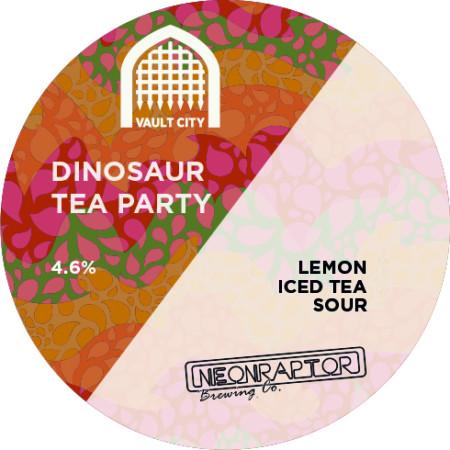 ON TAP Neon Raptor x Vault City | Dinosaur Tea Party |  Iced Tea IPA 6.8% 1 Litre