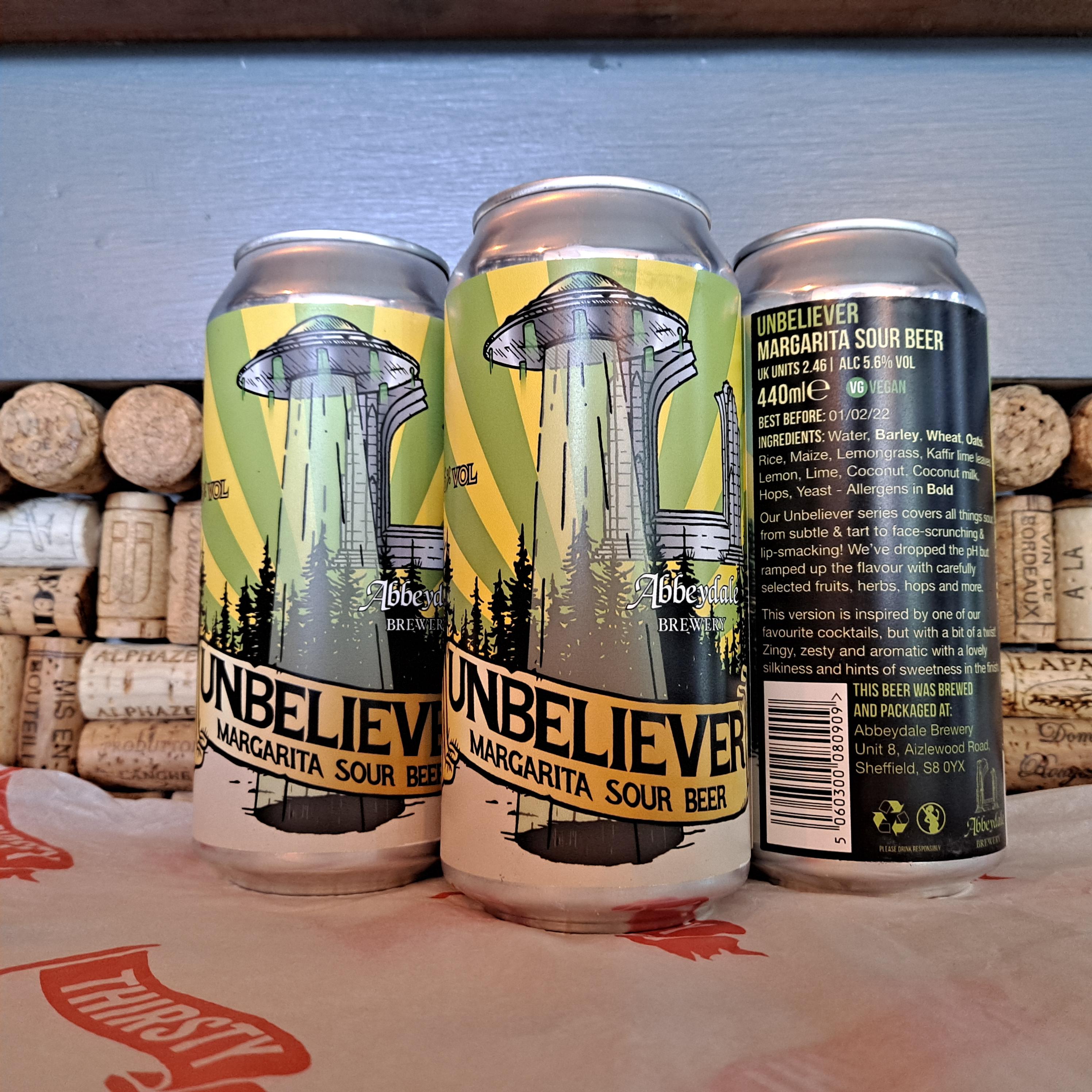 Abbeydale | Unbeliever | Margarita Sour Beer 5.6% 440ml