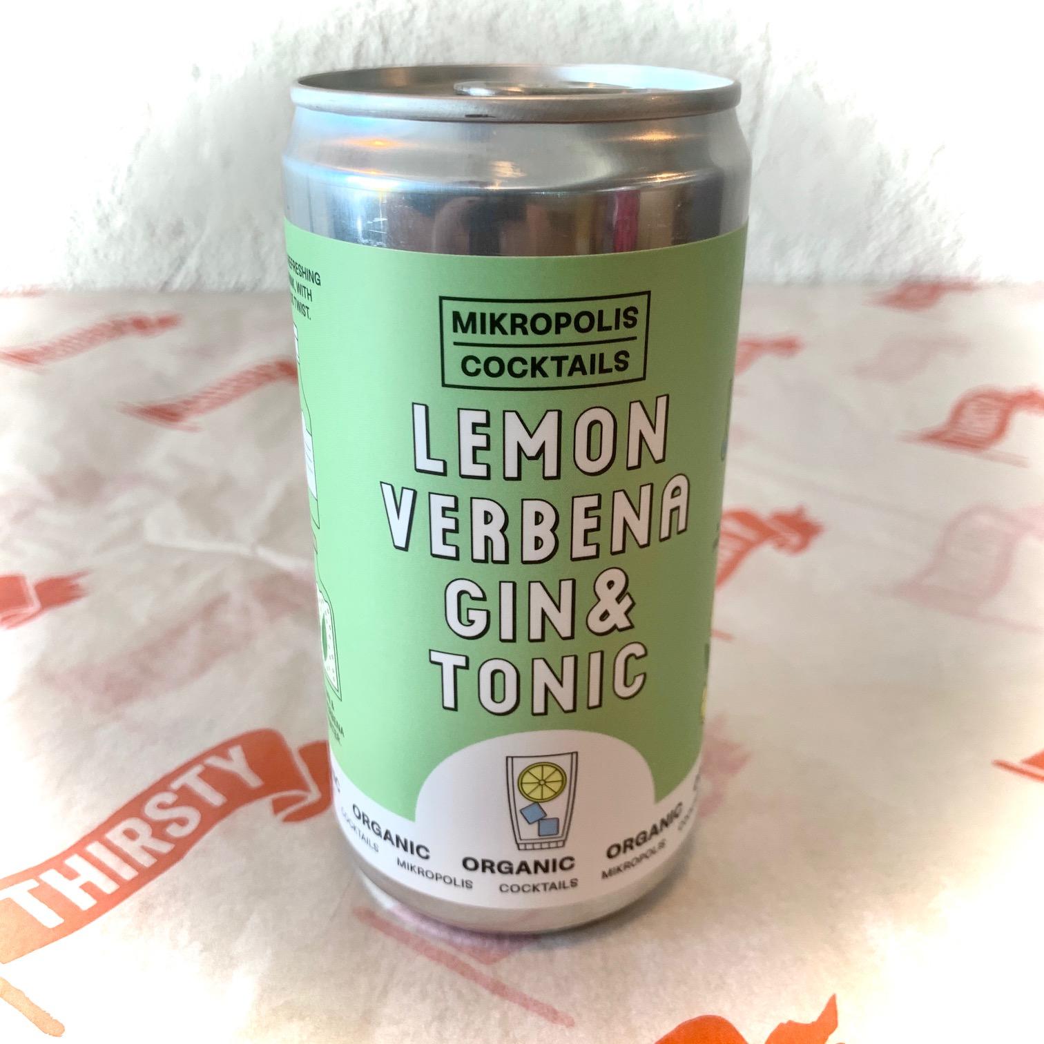Mikropolis | Lemon Verbena G&T | Organic Canned Cocktail 6.5% 250ml