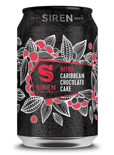 Siren | Nitro Caribbean Chocolate Cake  | Tropical Stout With Cacao Nibs & Cypress Wood 7.4% 330ml