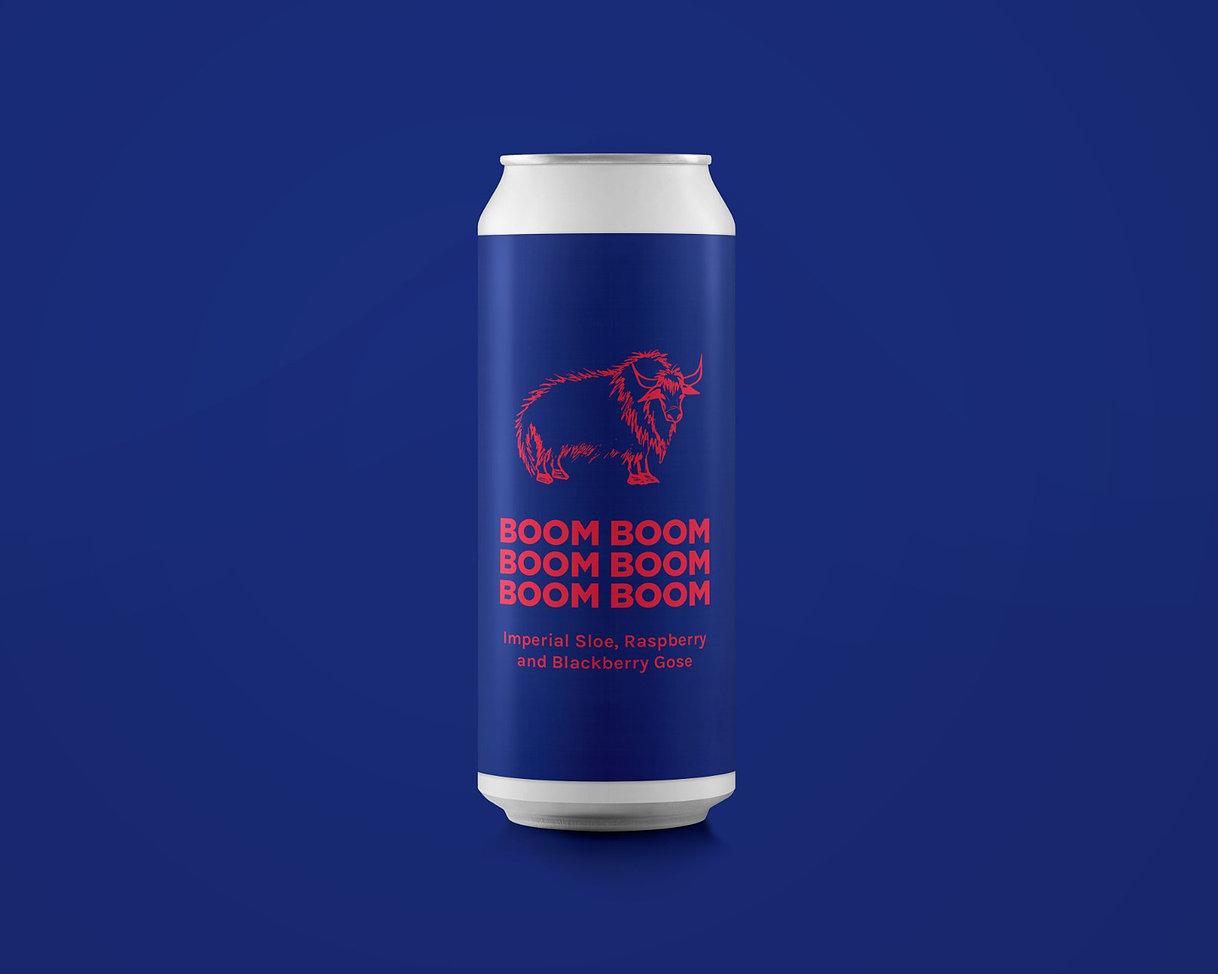 Pomona Island | Boom Boom Boom Boom Boom Boom Boom | Imperial Sloe, Raspberry & Black Berry Gose 10% 440ml