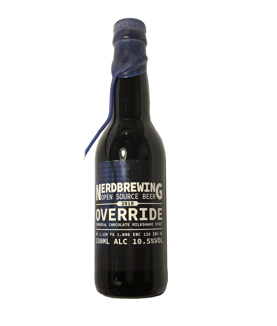 Nerd Brewing   Override 2020   Imperial Chocolate Milkshake Stout 10.9% 330ml