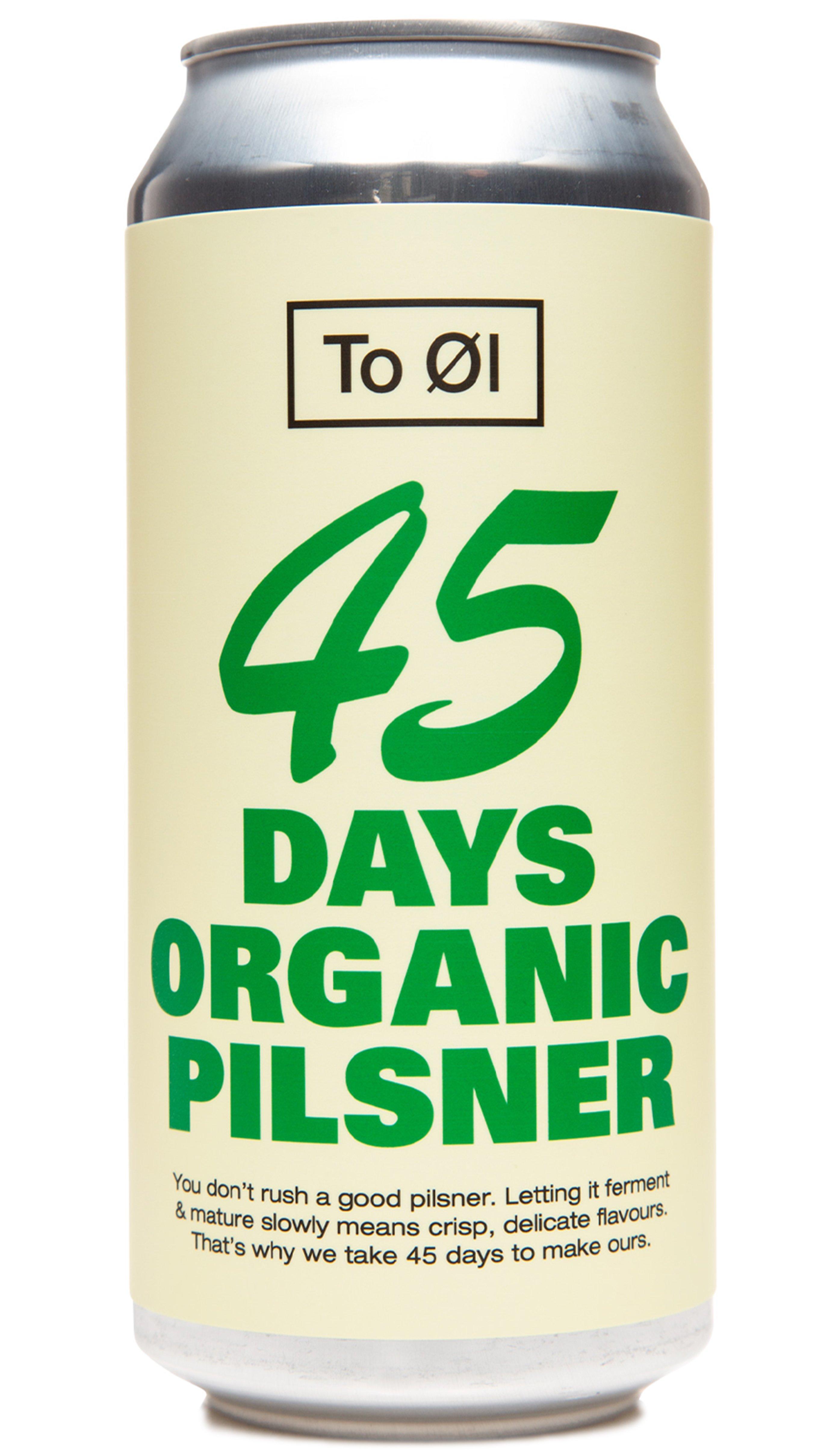 To Øl | 45 Days Organic Pilsner 4.7% 440ml