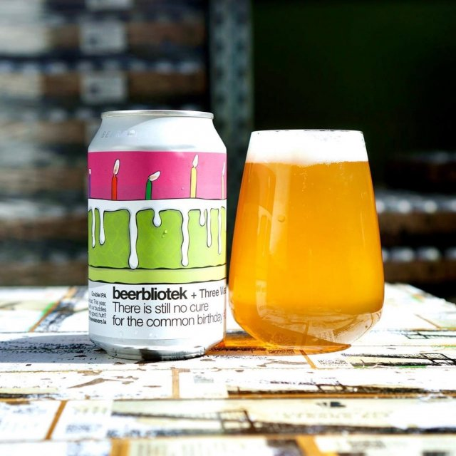 Beerbliotek x Three Weavers | There Is Still No Cure For The Common Birthday | DIPA 8% 330ml