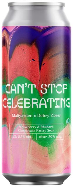 Maltgarden | Can't Stop Celebrating | Strawberry & Rhubarb Cheesecake Pastry Sour 5.5% 500ml