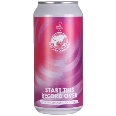 Lost and Grounded | Start This Record Over | Raspberry Berliner Weissbier 3.2% 440ml