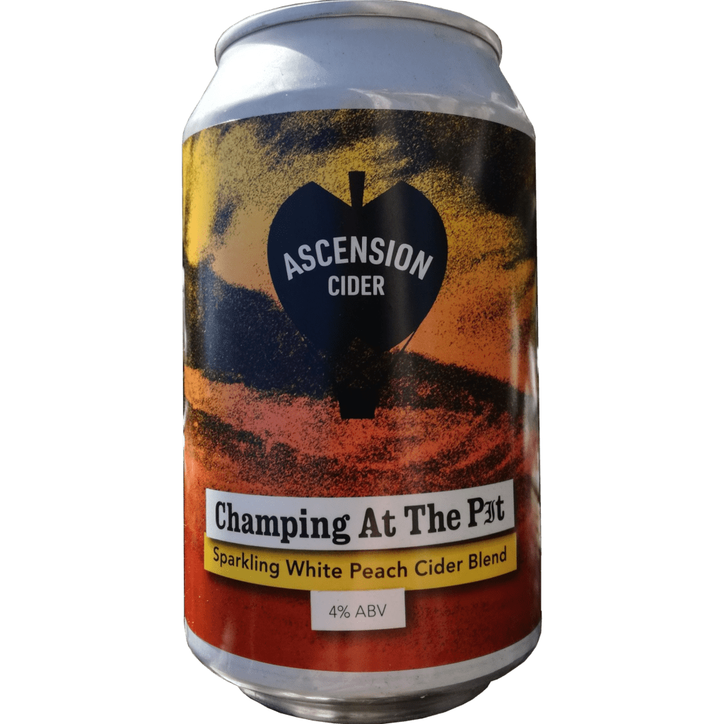 Ascension | Champing at the Pit | White Peach Cider 4% 330ml