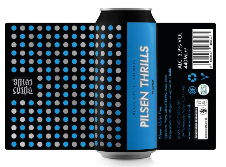 Brass Castle | Pilsen Thrills | Gluten Free Pilsner 3.49% 440ml