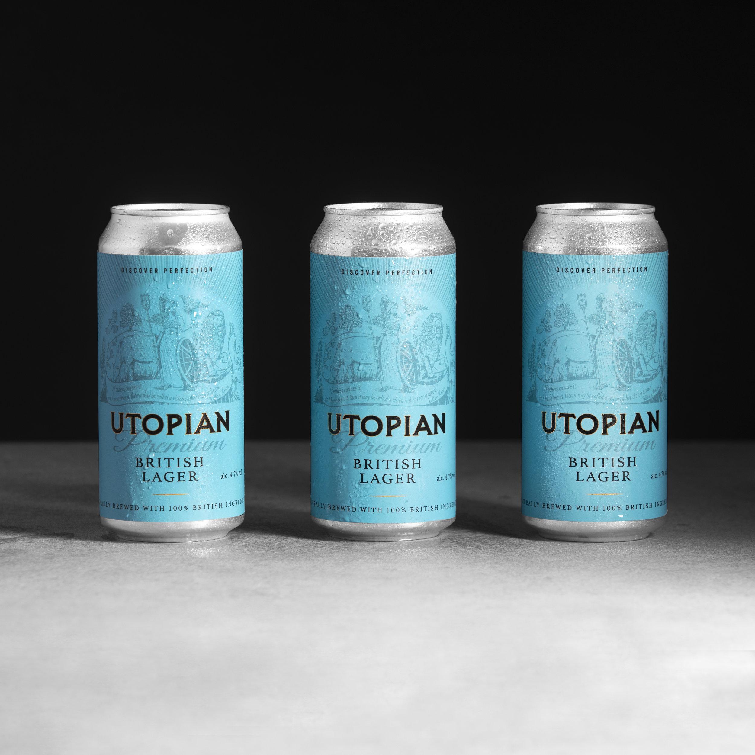 Utopian | Premium British Lager | Helles Style lager 4.7% 440ml