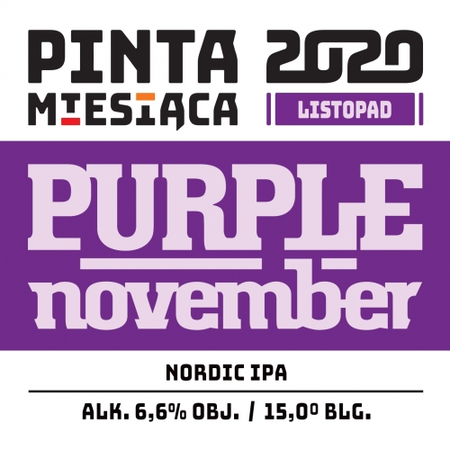 Browar PINTA   Purple November   Kviek IPA 6.6% 500ml