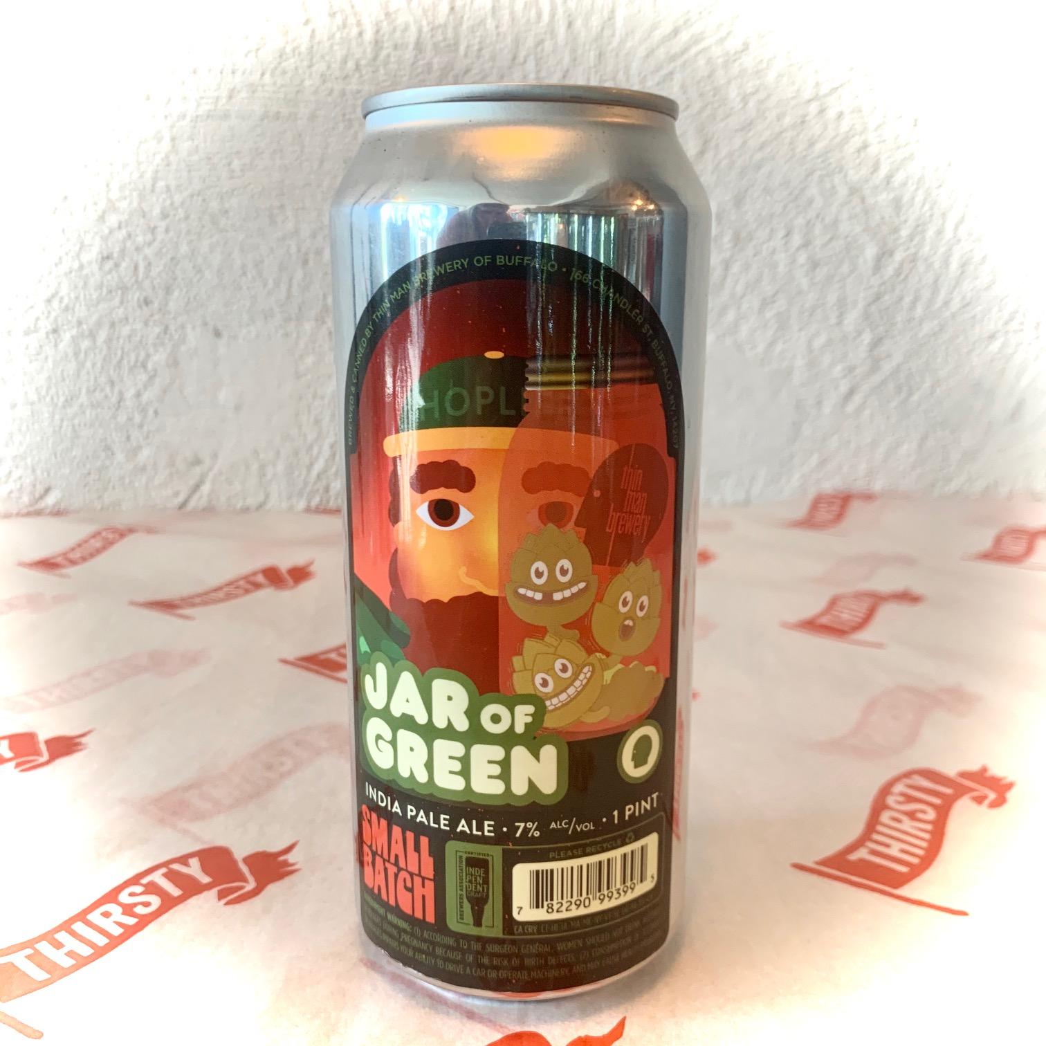 Thin Man Brewery   Jar of Green   IPA 7% 473ml