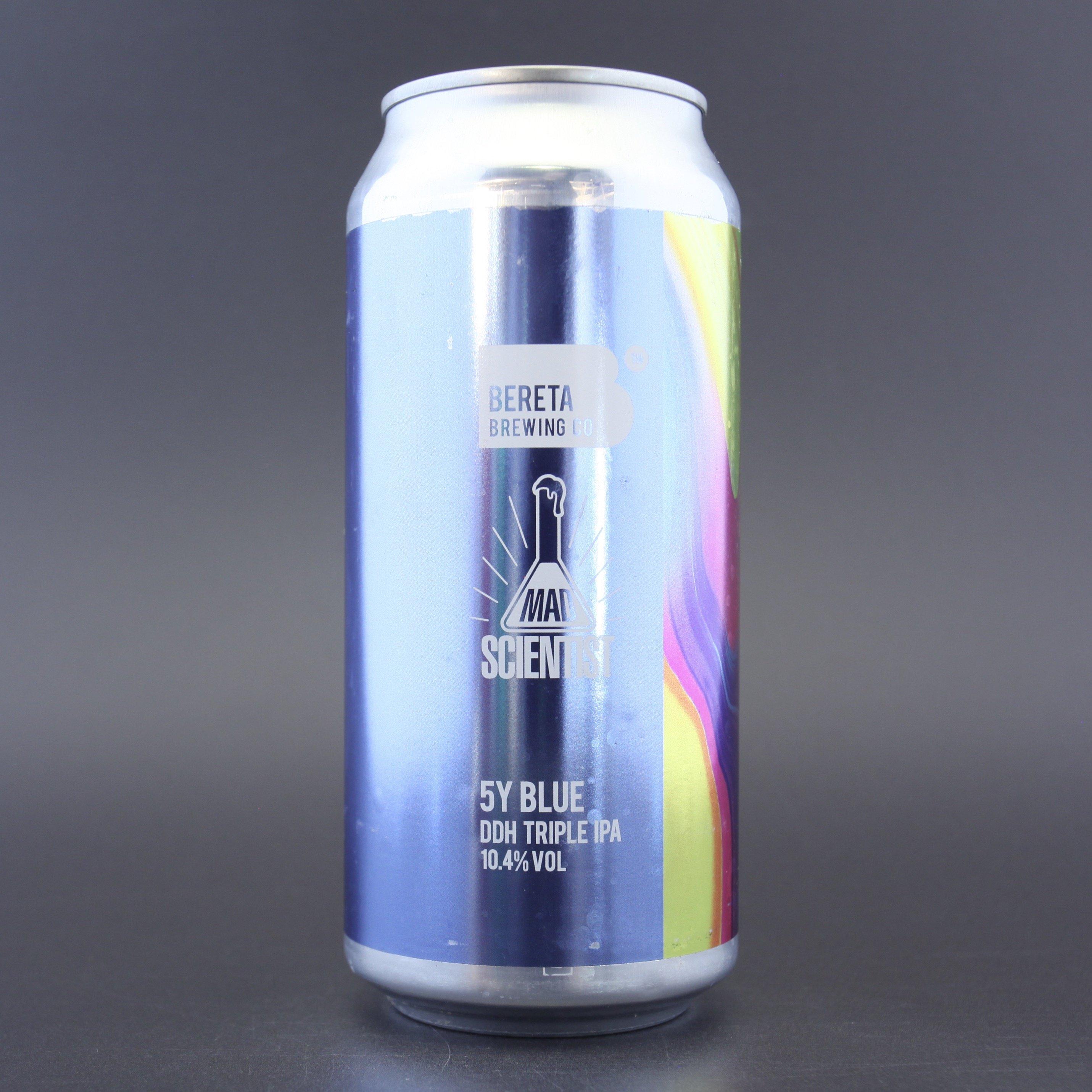 Bereta x Mad Scientist   5Y Blue   DDH Triple IPA 10.4% 440ml