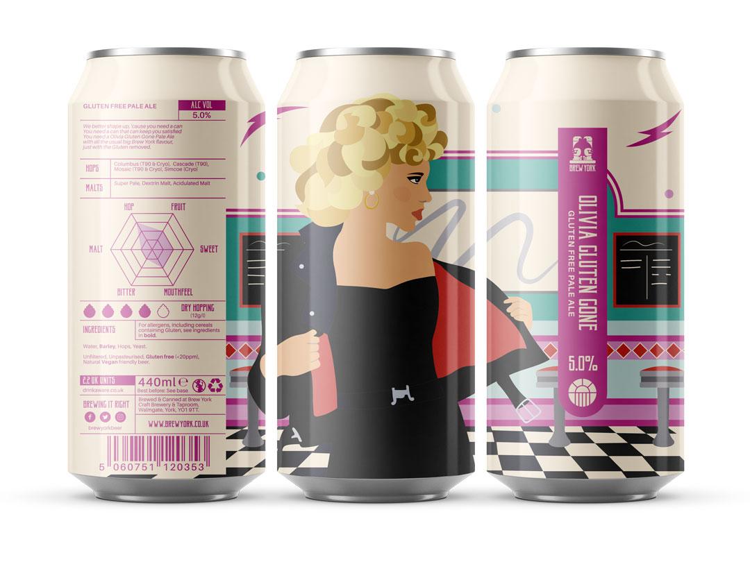 Brew York | Olivia Gluten Gone | Gluten Free Pale 5% 440ml