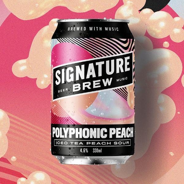 Signature | Polyphonic Sour | Peach Iced Tea Sour 4.6% 330ml