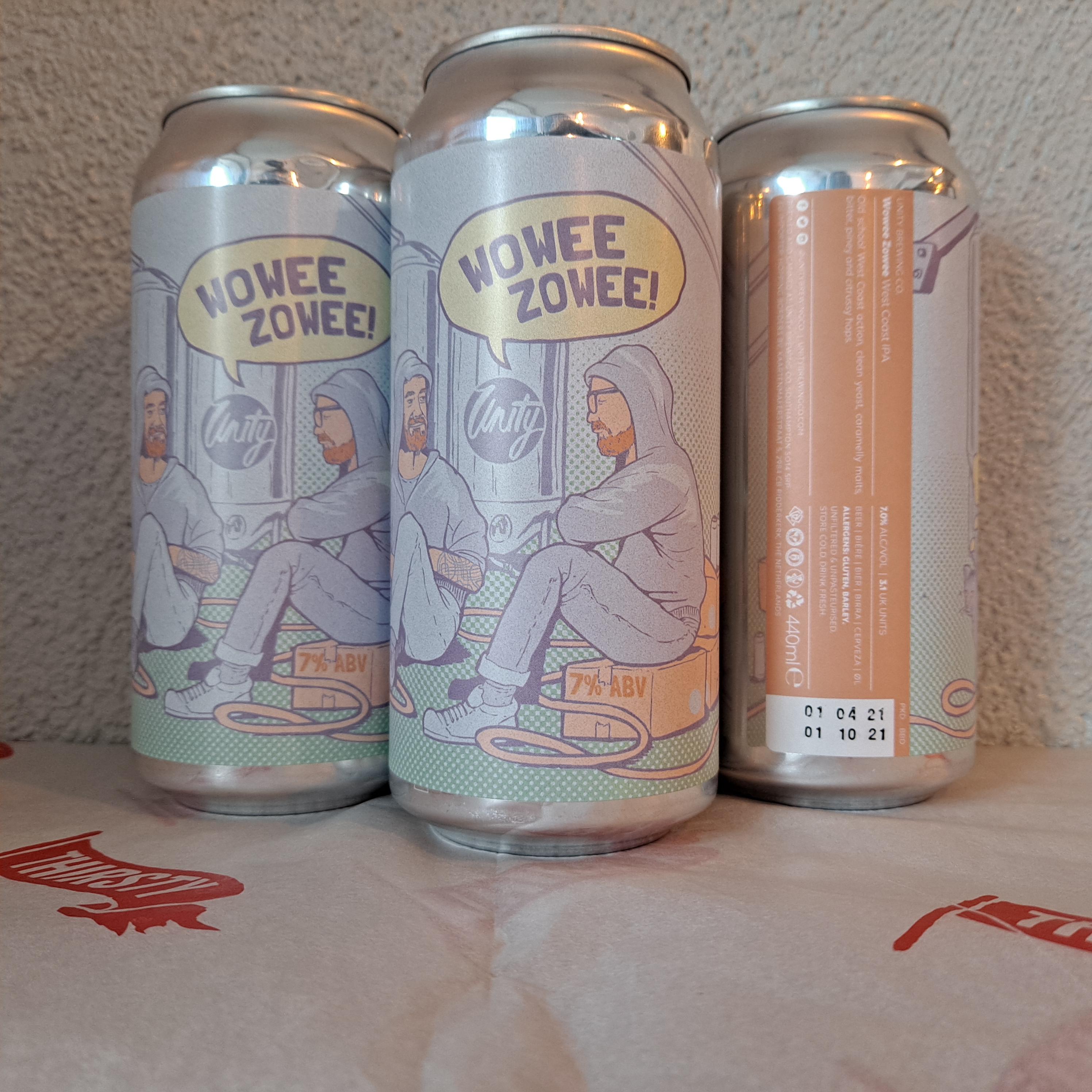 Unity Brewing Co. | Wowee Zowee (2021) | West Coast IPA  7% 440ml