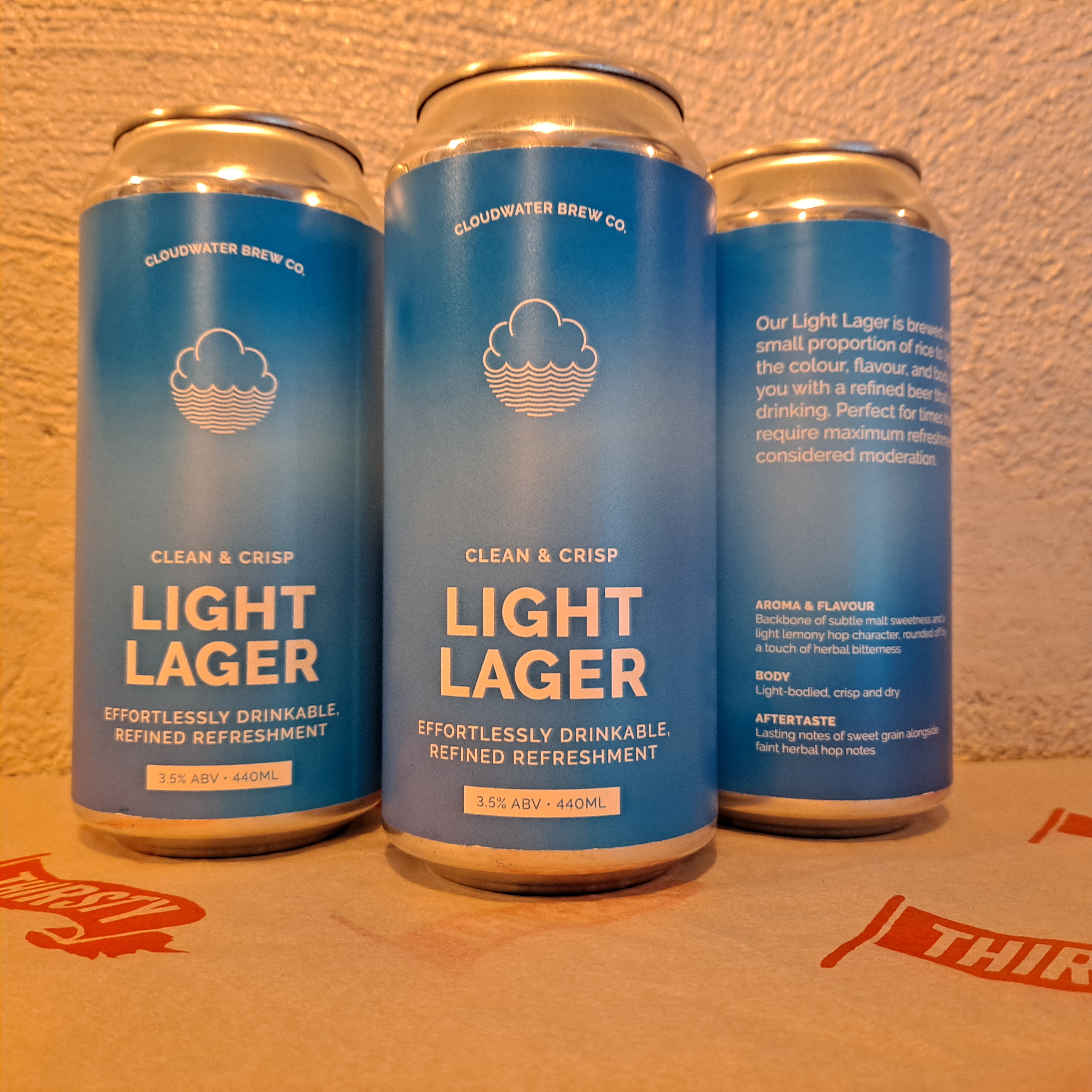 Cloudwater | Light Lager | Session Lager 3.5% 440ml