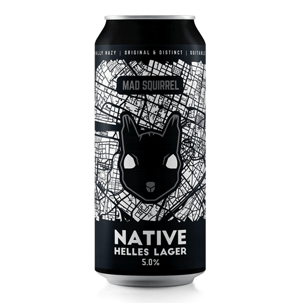Mad Squirrel | Native Helles | Helles Lager 4.8% 440ml