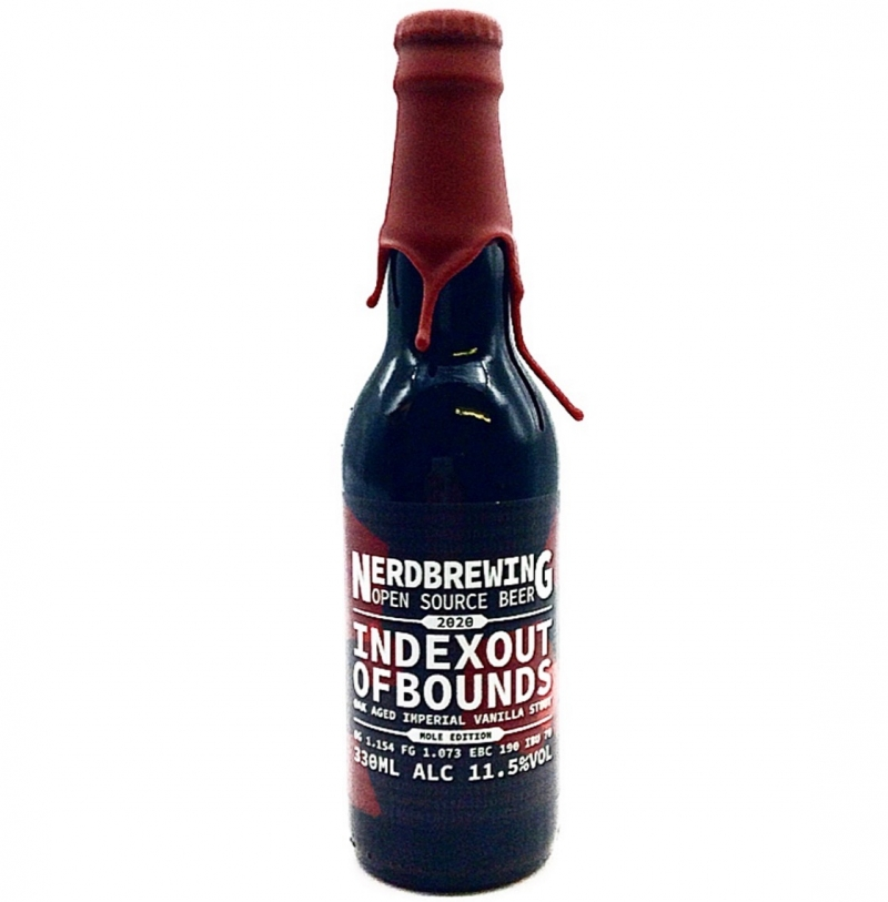 Nerdbrewing | Indexoutofbounds Oak Aged Imperial Vanilla Stout - Mole Ed. (2020) | 11.5% 330ml **1 Per Customer**