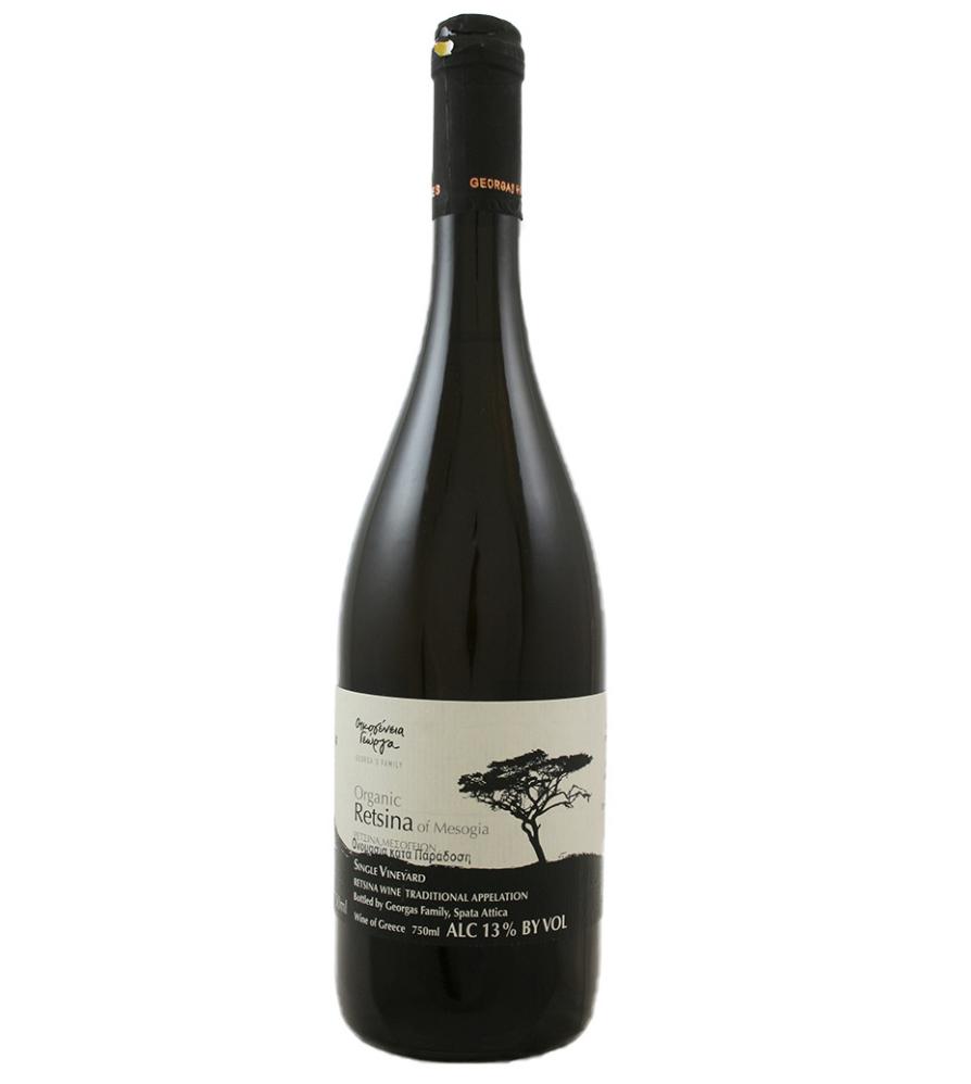 Georgas Family Retsina Of Mesogia Black Label |White Wine|Greece|