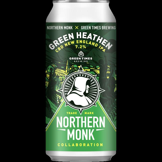 Northern Monk x Green Times   Green Heathen   CBD New England IPA 7.2% 440ml